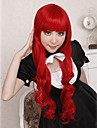 Cosplay Wigs Cosplay Tomochika Shibuya Red Long Anime/ Video Games Cosplay Wigs 80 CM Heat Resistant Fiber Female