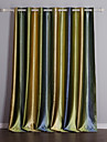 Two Panels Mediterranean Stripe Living Room Polyester Panel Curtains Drapes