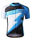 SPAKCT manches 100% polyester respirant court / à séchage rapide Hommes Maillot Cyclisme S13C04 (Bleu)