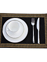 Set Of 4 Classic Golden Printed Placemats