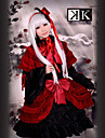 Inspire par K Anna Kushina Anime Costumes de cosplay Costumes Cosplay / Robes Mosaique Rouge Manche Longues Robe / Chapeau / Chale