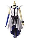 Inspirerad av PrettyCure Cure Moonlight Animé Cosplay Kostymer/Dräkter cosplay Suits / Klänningar Lappverk Vit ÄrmlösKlänning /