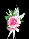 Beautiful Satin / Cotton With Feather Free-form Boutonniere