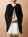 Wedding  Wraps / Hoods & Ponchos Capes Sleeveless Chiffon Black Party/Evening Lace-up