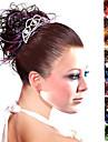 Top grade synthetiques Curly Hair Pieces plusieurs couleurs disponibles