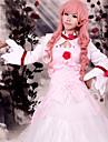 Inspirerad av Kod Gease Euphemia Li Britannia anime Cosplay dräkter cosplay Suits / Klänningar Lappverk Vit Lång ärm Klänning / Sjal