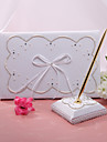 Guest Book Pen Set Satin Classic ThemeWithFaux Pearl