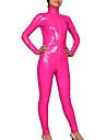 Skinande Zentai Dräkter Ninja Zentai Cosplay-kostymer Rosa Enfärgat Kattdräkt PVC Unisex Halloween Jul