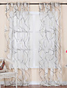 Deux Panneaux Le traitement de fenetre Rococo , Courbe Salle de sejour Polyester Materiel Sheer Rideaux Shades Decoration d\'interieur For