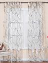 rokoko två paneler kurva vita vardagsrummet polyester skira gardiner nyanser