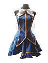 Inspire par Fairy Tail Lucy Heartfilia Anime Costumes de cosplay Costumes Cosplay Mosaique Bleu Top