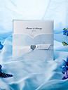elegante blå roser tri-fold bryllup invitation (sæt af 50)