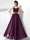 TS Couture® Prom / Formal Evening / Military Ball Dress - Open Back Plus Size / Petite Sheath / Column Halter / Sweetheart Floor-length Chiffon