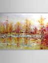 Hand-Painted Abstract / Abstract Landscape One Panel Canvas Oil Painting For Home Decoration