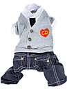 Dog Clothes/Jumpsuit / Clothes/Clothing Gray Winter / Spring/Fall Britsh / Jeans / Hearts Fashion