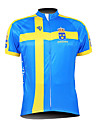Kooplus Men\'s Cycling Jersey 2015 Short Sleeves Sweden Pattern 100% Polyester Breathable