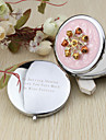 Personalized Sweet Flower Chrome Compact Mirror Favor