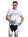 Mysenlan Homme Demi-manche Velo Respirable Zip etanche Zip frontal Vestimentaire Ensemble de Vetements/Tenus Cyclisme/Velo