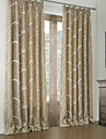 Rococo Bedroom Curve Brown Two Panels Panel Curtains Drapes