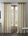 Two Panels  Rococo Polyester Cotton Blend Embossed Corrugation Room Darkening Curtain