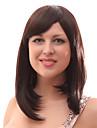 Capless 20% de cheveux humains de longs Raides Marron Cheveux Perruques