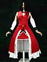 Inspire par Puella Magi Madoka Magica Kyoko Sakura Anime Costumes de cosplay Costumes Cosplay / Robes Mosaique Rouge Sans ManchesRobe /
