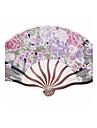 """Mătase Ventilatoare și umbrele de soare-# Piece / Set Ventilatoare de Mână Temă Florală 8 ¼"""" h x 14 ½"""" w(21cm înalt ×37cm lat)"""