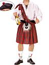 Cosplay Kostymer/Dräkter / Festklädsel Oktoberfest / Burlesk/Clown Festival/Högtid Halloween Kostymer Brun SkotskrutigtKappa / Kjol /