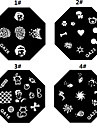 1PCS Nail Art Stamping Timbre Image de tasse Plate M Series No.5 (couleurs assorties)