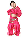Dancewear Chiffon Belly Dance Outfits Top and Belt and Bottom For Children More Colors
