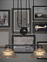 120W Artistic Pendant Light with 2 Lights in Pulley Block Design(Chain Adjustable)