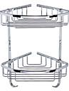 Bathroom Double-deck Cooper Triangular Storage Basket