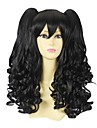 Black Curly Pigtail 50cm Classic Lolita Wig