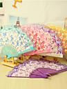 """Bumbac Ventilatoare și umbrele de soare-# Piece / Set Ventilatoare de Mână Temă Florală 16 1/2""""x9""""x 3/4""""(42cmx23cmx1cm)1""""x9""""x"""