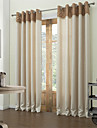 moderna två paneler fasta beige vardagsrum polyester mörkläggningsgardiner gardiner