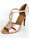 massgeschneiderte Satin Bogen Gurt Latin / Ballroom Dance Performance-Schuhe mit Schnalle (mehr Farben)