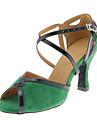 Chaussures de danse (Vert) - Personnalisable - Talons personnalises - Suede - Danse latine/Salle de bal
