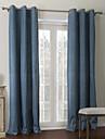 modernes deux panneaux bleu solide salon rideaux a panneaux en polyester opaques