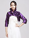 Wedding / Party/Evening / Office & Career / Casual Taffeta Coats/Jackets 3/4-Length Sleeve Wedding  Wraps