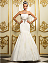 Lanting Bride® Fit & Flare Petite / Plus Sizes Wedding Dress - Classic & Timeless / Elegant & Luxurious Spring 2014 / Fall 2013