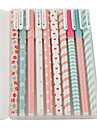dekorativa mönster färgglada gel penna set (10 st)