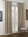 neoklassiska två paneler fast khaki sängkläder / polyesterblandning panelgardiner draperier