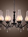 Max 60W Traditionell/Klassisk stearinljus stil Målning Ljuskronor Living Room / Bedroom / Dining Room