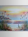 handmålade landskap oljemålning med sträckt ram
