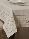 A Motifs Lin/Viscose Carre Nappes de table