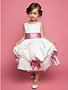 Flower Girl Dress - A-line/Mode de bal/Princesse Longueur genou Sans manches Mousseline polyester/Dentelle/Satin/Tulle