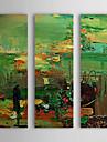 Pintado a mano la pintura al oleo abstracta marco estirado Juego de 3 1308-AB0550