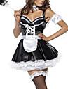Costumes de Cosplay Costume de Soiree Tenus de Servante Costumes de carriere Fete / Celebration Deguisement d\'Halloween Blanc Noir