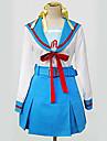 geinspireerd door Suzumiya Haruhi Haruhi Suzumiya Anime Cosplay Kostuums Cosplay Kostuums / Schooluniformen Patchwork  Wit / BlauwLange