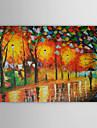 Pictat manual Peisaj / Peisaje Abstracte  Un Panou Canava Hang-pictate pictură în ulei For Pagina de decorare